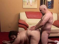 Mature fatty loves to feel fat weenies stuffing her pussy