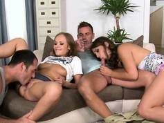 Group fucking action rewards euro babes with pleasure