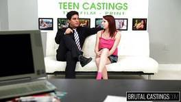 Slutty Macy Gets Undressed For Casting