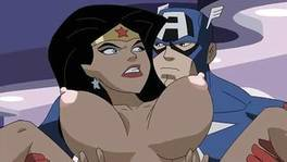 Wonder Woman And Captain America Fight Then Fuck