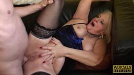 PASCALSSUBSLUTS – Choked granny Carol gets rough anal sex