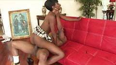 tall, skinny ebony girl with small tits gets her ass pounded
