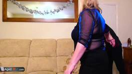 Busty mature chubby blonde and handy man